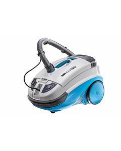 Aspirator Thomas Twin Aquawash 788525, aspirare uscata cu sac XXL, filtru lavabil HEPA, albastru / alb