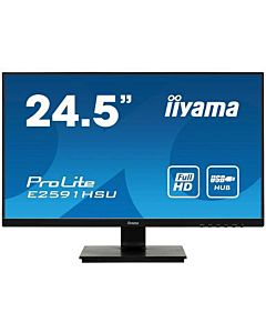 Monitor Iiyama E2591HSU-B1 24,5'', TN, Full HD, VGA/DP/HDMI, speakers