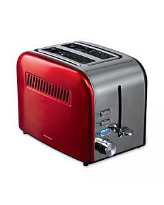 Prajitor de paine Heinner HTP-850RDIX, 850 W, 7 nivele de rumenire, 3 functii, Rosu/Inox