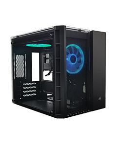 Carcasa Corsair Crystal Series 280X RGB Micro-ATX, Tempered Glass, Black