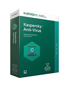 Securitate Kaspersky Antivirus 2018, 3 PC, 1 an, New License, Retail