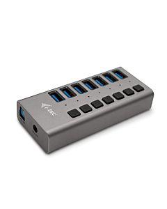i-tec USB 3.0 Charging HUB 7port cu Adaptor de alimentare 36W 7x USB 3.0