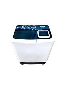Masina de spalat rufe semiautomata Heinner HSWM-AD65BL,6.5 Kg, 4.6 Kg, Alb/Albastru