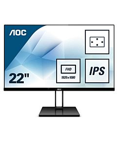 "Monitor LED IPS AOC 21.5"" 22V2Q, Full HD, Display Port, Negru"