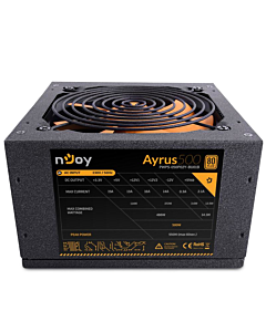 Sursa nJoy Ayrus 500, 500W Real Power, PFC Pasiv, 80 Plus